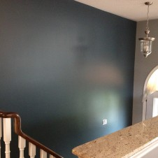 Accent wall after