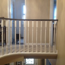 Oak to black and white Handrail after 1