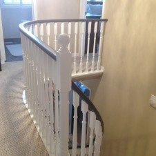 Oak to black and white Handrail  after 2