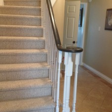 Oak to black and white Handrail  after 3