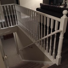 Painted railing after 2
