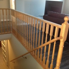 Painted railing before