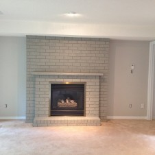 Brick Fireplace After