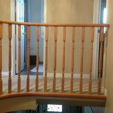 Oak to black and white Handrail  before 1