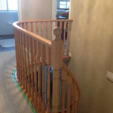 Oak to black and white Handrail before 2