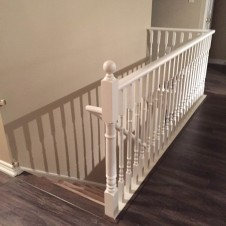 Painted railing after 1